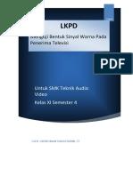 Tugas 4.4 LKPD Peerteaching KD 3.13 Dasar Dasar Optik Dan Teknik Dasar Warna Pada Televisi
