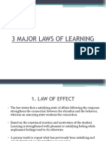 3 Major Laws of Learning Ppt