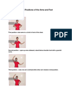 Five Fundamental Positions of the Arms and Feet