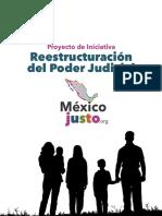 Iniciativa Reestructura Poder Judicial