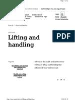 Lifting and handling