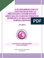 Plan escolar para la violencia
