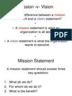 Mission v Vision