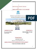 Abhishek Kumar Summer Training Project Report on Tata Motors