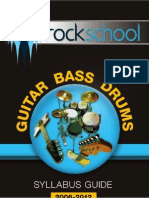 Guitar Bass Drums 2006-2012 Syllabus Guide