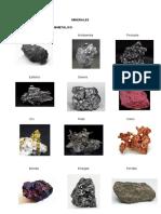 Minerales y Rocas Más Importantes