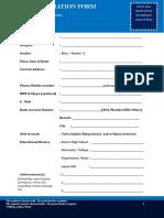 Tutor Registration Form Your Name