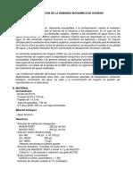 Determinacion de La Demanda Bioquimica Del Oxigeno