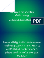 The Need for Scientific Methodology