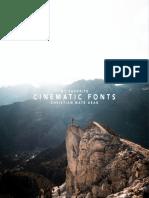 Cinematic Font