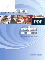 Food Safety for Transplant Recipients