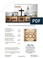 Church Bulletin Templates 07