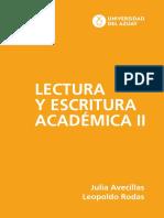lectura y escritura academica