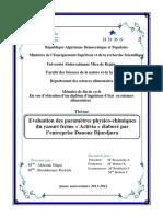 Evaluation des paramètres physico-chimiques du yaourt ferme « Activia »....pdf