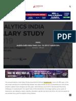 Www Analyticsindiamag Com Analytics India Salary Study 2019 by Aim Analytixlabs