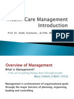 Healthcare Management Introduction
