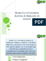 Hard Cut Concrete Sawing & Drilling