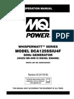 DCA125SSIU4F Rev 3 60 Hz Op Manual