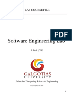 Software Engineering Lab Manual For GU