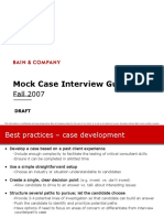 Bain - Mock Case Interview