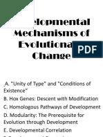 Developmental Mechanisms of Evolutionary Change