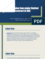 Facing Labor Ban Under Limited Contract in UAE