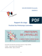 Rapport de Stage Festival de Printemps de Lanvellec (2)