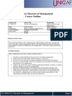 UU-MBA712 - Theories of Management Course Outline