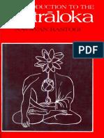 Navjivan Rastogi - Introduction to the Tantraloka (1987)