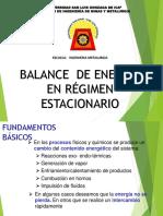 Balance de Energia en Regimen Estacionario