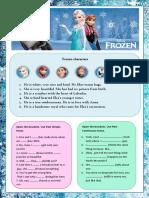 Frozen Reading Comprehension Exercises 90213