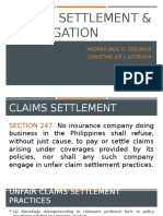 Claims Settlement and Subrogation