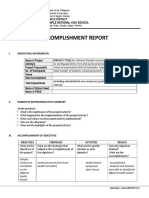 DepEd Accomplishment Report Template