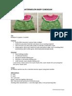 Watermelon Baby Cardigan Clarified