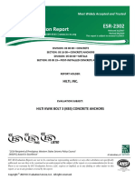 hilti expanson Approval-document