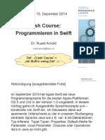2014.12.10 Programmieren in Swift Ruedi Arnold