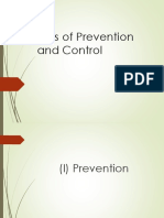 Prevention and Levels