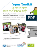 Play Scotland Play Types Tooolkit Bringing More Play Into the School Day
