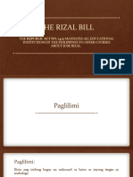 The Rizal Bill