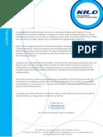 Company Values - Traceability