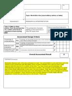 student feedback - portfolio