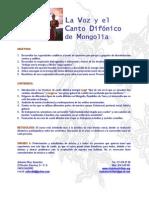 La Voz y El Canto Difonico PDF