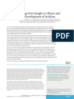Being Overweight or Obese and the Development of Asthma