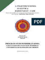 Jurnal Praktikum Kimia Analitik 2 Padat Cair