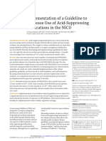 Implementation of a Guideline to Decrease Use of Acid Suppresing Medications in the Nicu