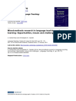 Mixed-methods Research in Language Teaching and Learning