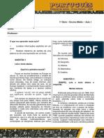 Aula 1 Portugues 1 Serie VersaoAluno 2.pdf