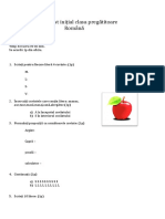 Test Initial Clasa Pregatitoare