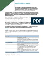Snow SAM Platform - Features.v.1.0
