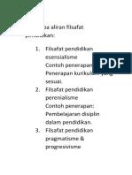 Beberapa aliran filsafat pendidikan.docx